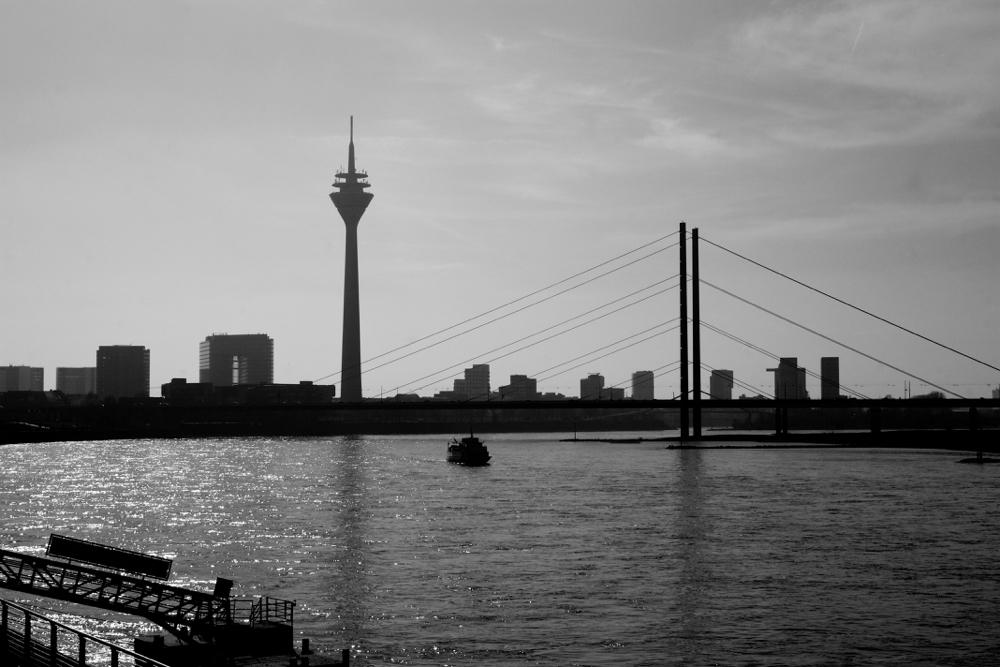 Skyline van Düsseldorf decoratieve foto