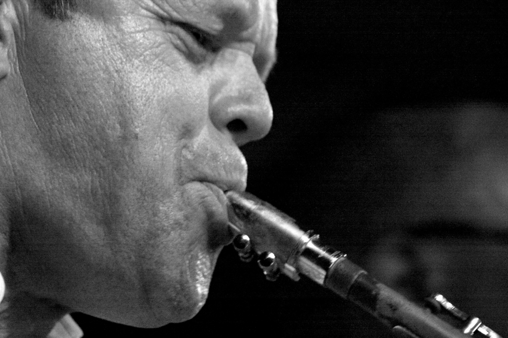 Portretfoto van Jazz muzikant