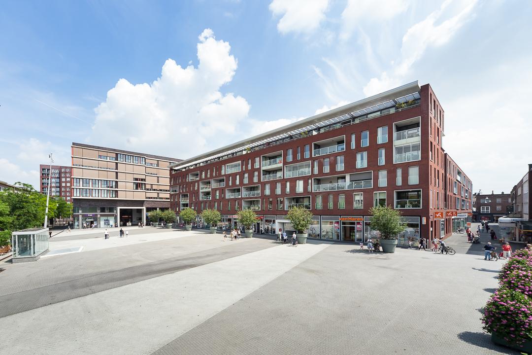 hoogtefotografie vastgoed winkelcentrum Geleen