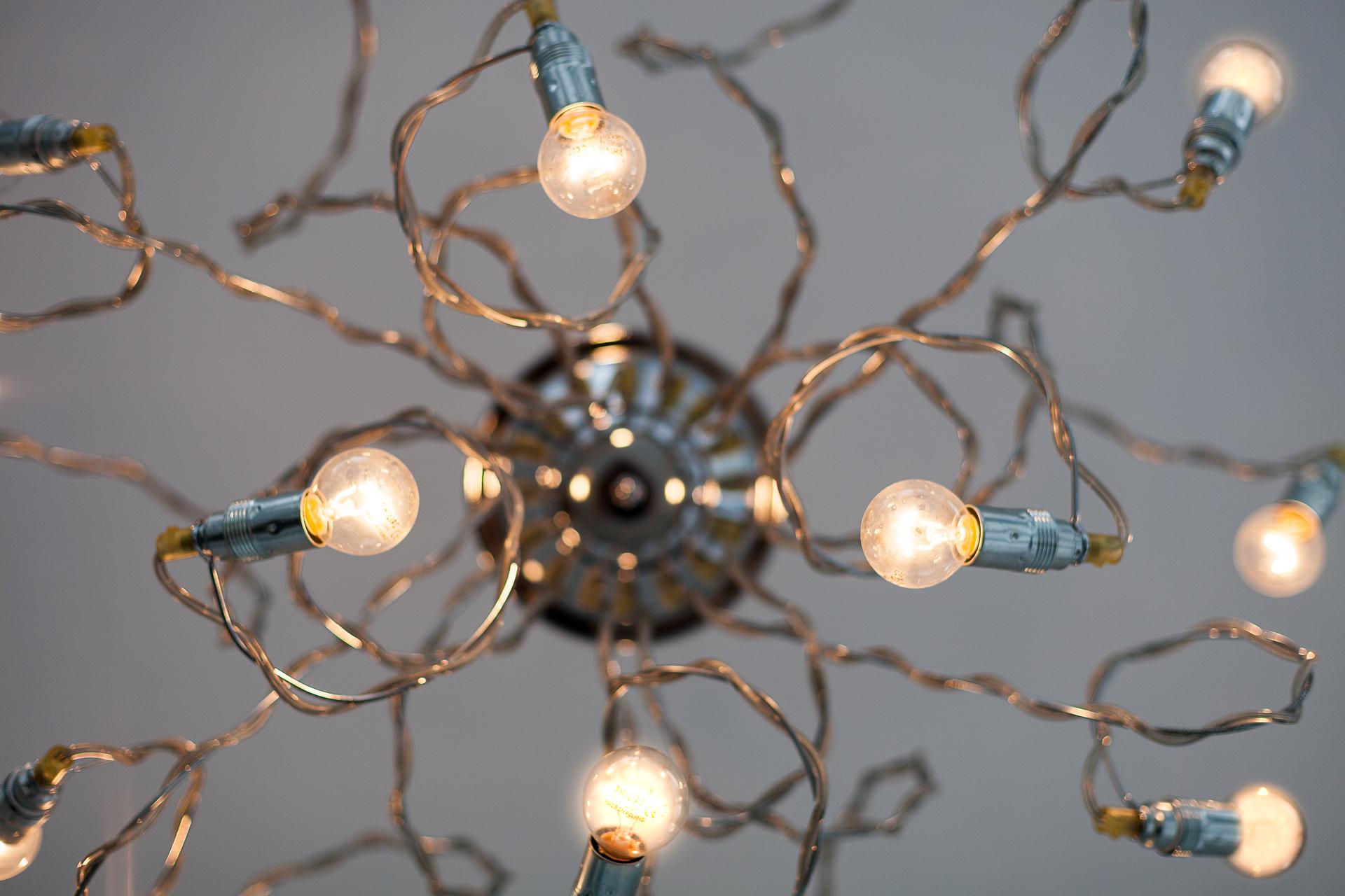 Detail van interieur verlichting