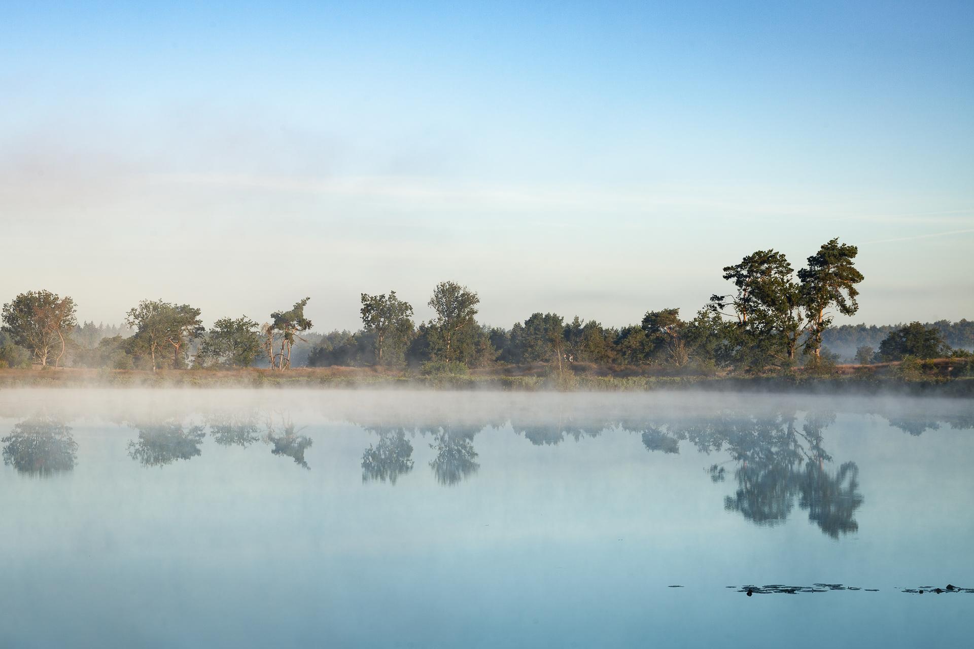 Landschapsfotografie Malpie mist en spiegeling