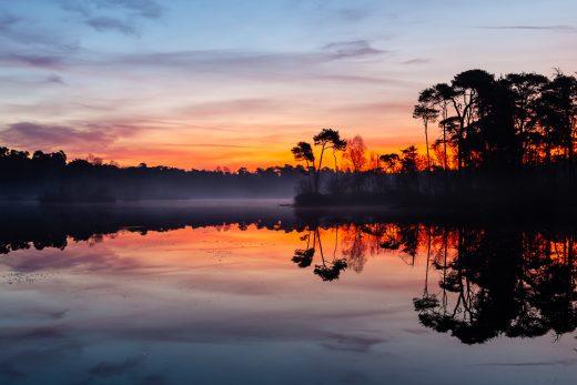 Landschapsfotografie zonsopgang Oisterwijk